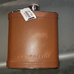 J. Crew leather flask New